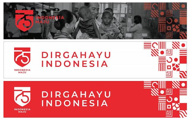 desain spanduk logo hut ri 75