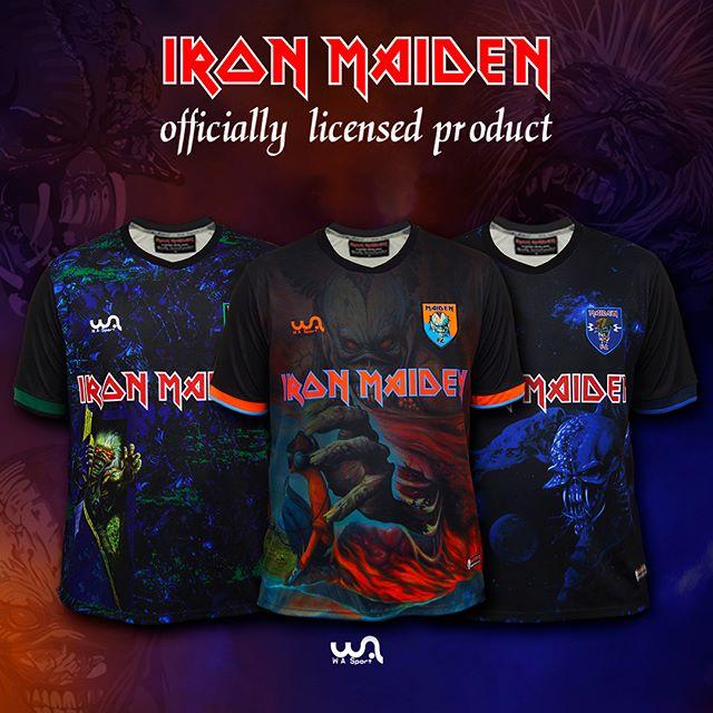 WA Sport lança novos modelos das camisas de futebol do Iron Maiden