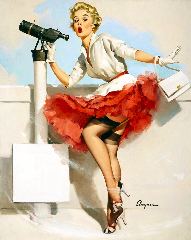Pin up Girl Pictures: Gil Elvgren 1950's Pin Up Girls