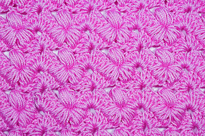 6 - Crochet Imagen Puntada preciosa con punto puff y abanicos por Majovel Crochet