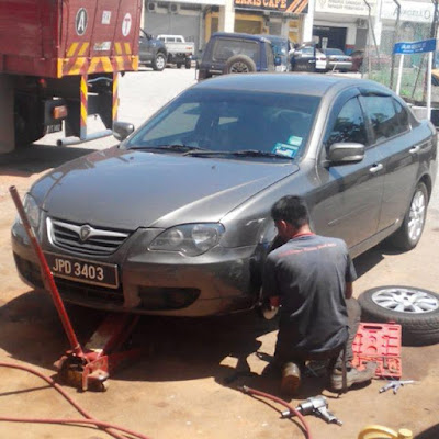 Tukar Break Pad Person Proton Persona di Pusat servis Proton