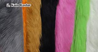 Kain Rasfur biasa digunakan untuk membuat souvenir boneka dan bantal