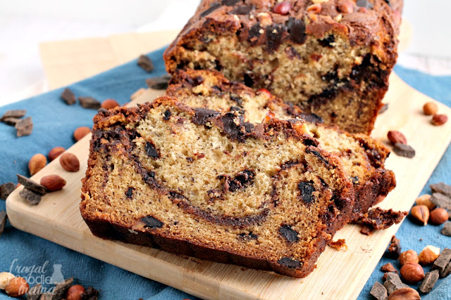 Chocolate Hazelnut Banana Bread