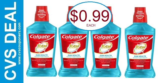 CVS Colgate Mouthwash Deal 1-3-1-9