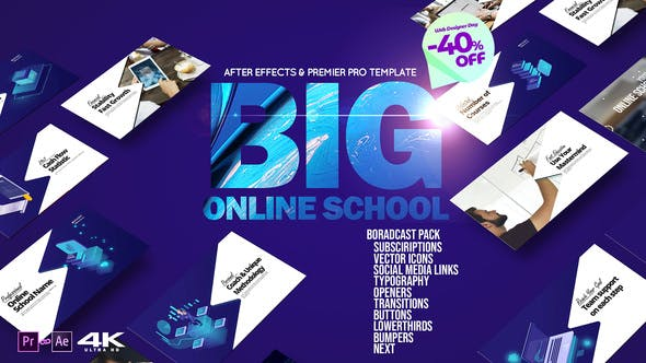 Big Online School Broadcast Pack | After Effects Project