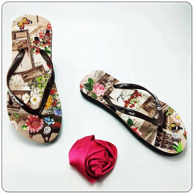 Wowwww Sandal Motif-Bunga TG Dengan Harga Langsung Dari Pabrik