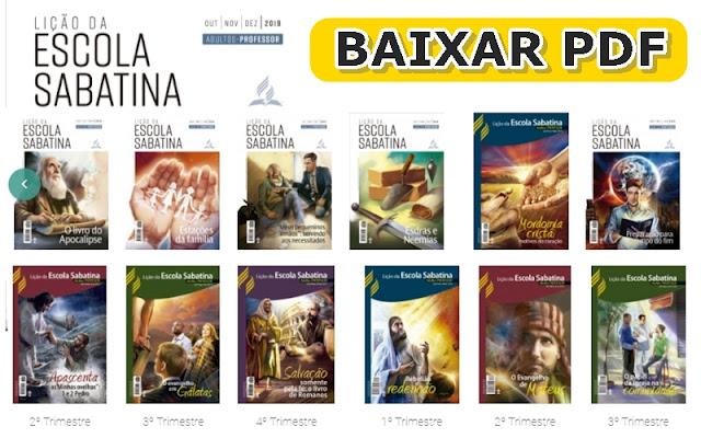 lição escola sabatina pdf