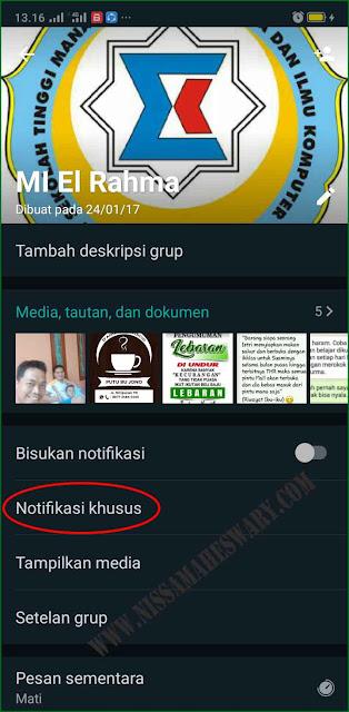 Cara Mengganti Atau Merubah Nada Dering Notifikasi WhatsApp Chat  dan Grup