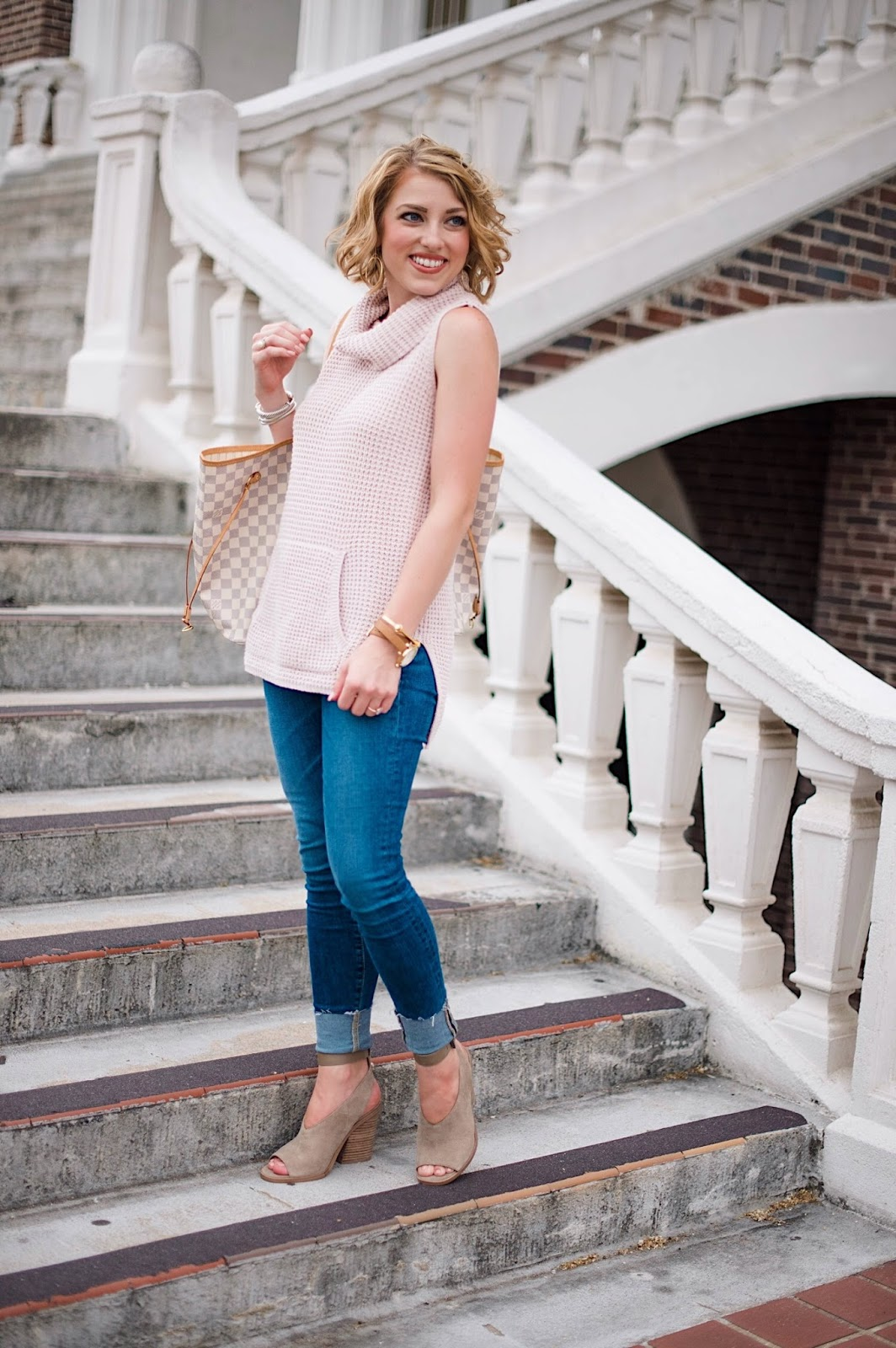 Sleeveless Sweater - Click through to see more on Something Delightful Blog!