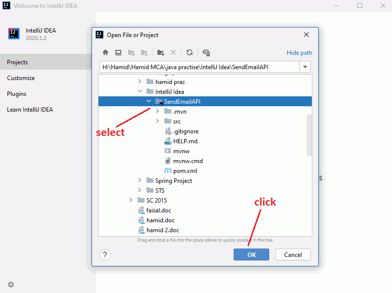 select a black icon folder for your project folder