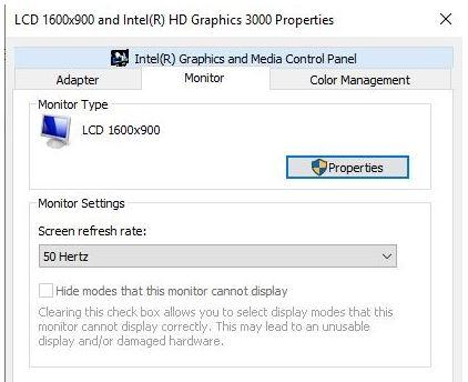 Ubah Tingkat Refresh Monitor