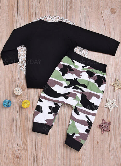 Boys' Alphabet Going out Long Sleeve Clothing Sets