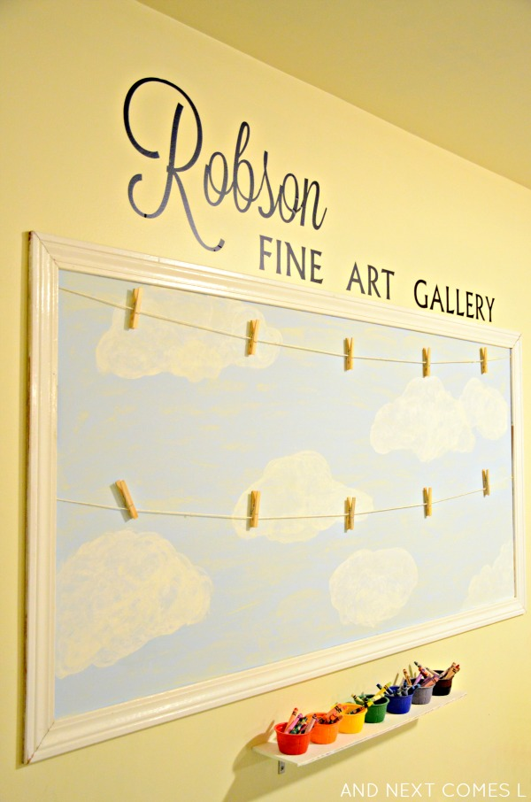 Our Playroom: Displaying Children\'s Art | And Next Comes L