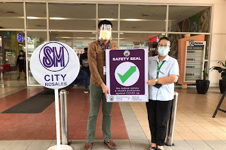 Safety Seal certification awarded to SM City Rosales