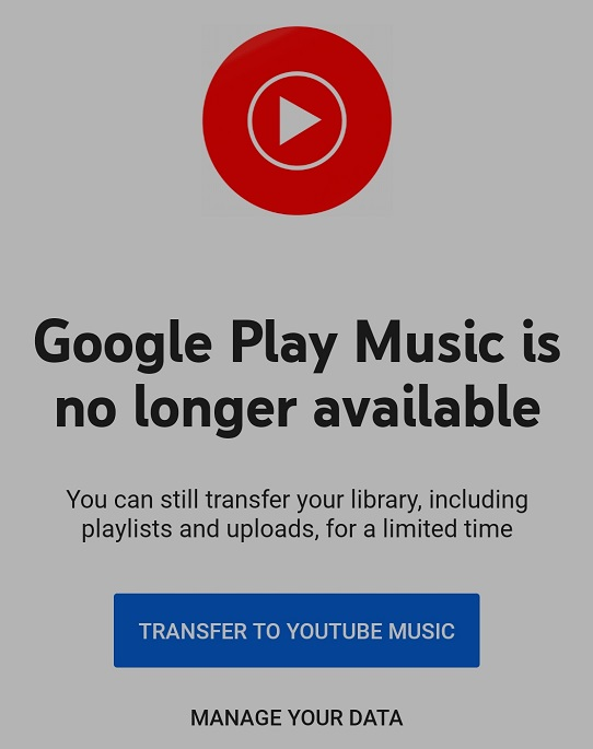 Google Play Music Finally Deleted, See How You Can Move your Music Library