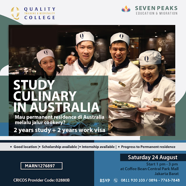 [Info Session Study Culinary in Australia] - QTHC (Quality Training and Hospitality College)