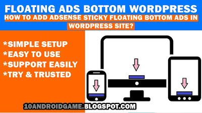 floating ads bottom wordpress