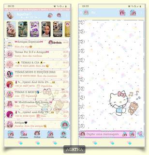 Hello Kitty Theme For YOWhatsApp & KM WhatsApp By Agatha