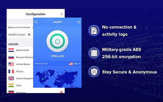 اضافة VeePN اضافة مجانية لقوقل كروم لفتح المواقع المحجوبة