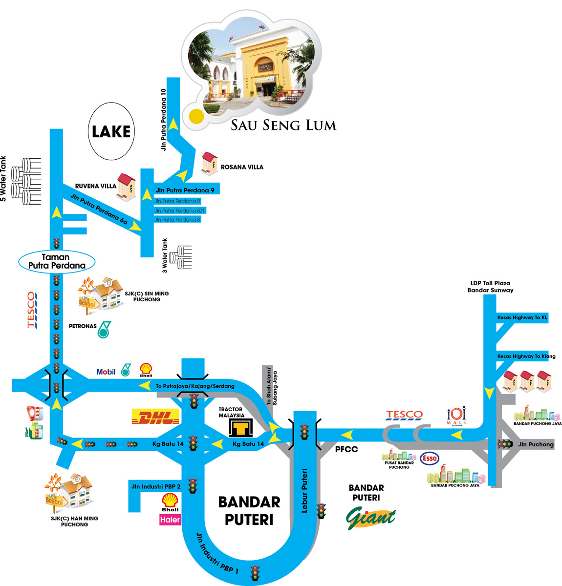 Sau Seng Lum (Puchong) Exhibition Centre 修成林(蒲种)展览中心 location map
