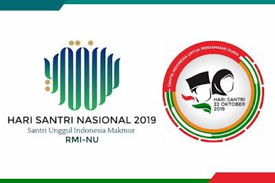 Download Dua Logo Dan Tema Hari Santri Nasional 2019 Ayo