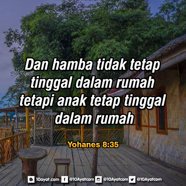 Yohanes 8:35