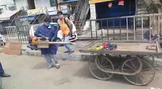 पीथमपुर नगर पालिका ने किया दवा का छिड़काव