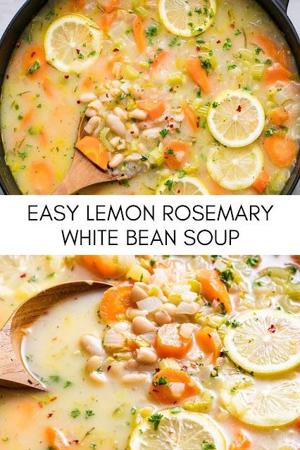 EASY LEMON ROSEMARY WHITE BEAN SOUP