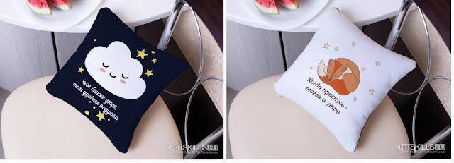 заказать подушку с пожеланием