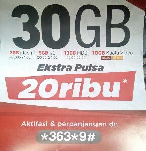 paket internet simpati 30 GB