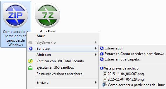 Bandizip compresor de archivos