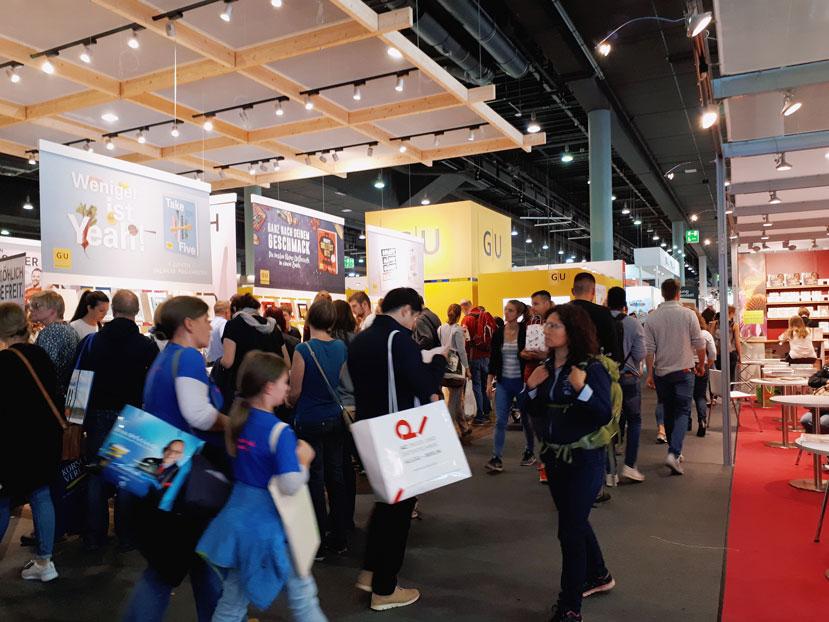 Viele Besucher auf der Frankfurter Buchmesse.