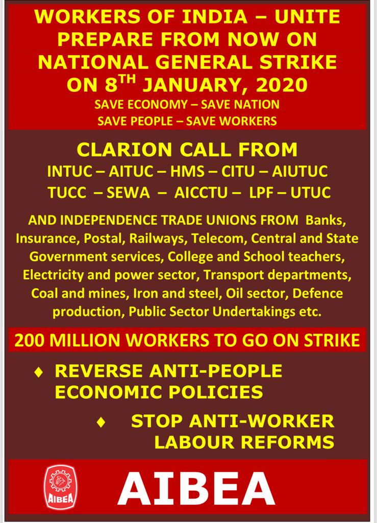 image search result for NATIONAL GENERAL STRIKE ON 8th January 2020