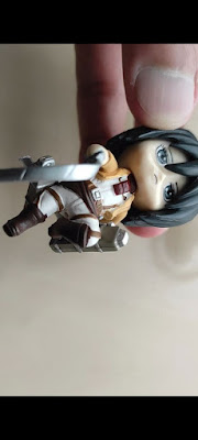 keychain cantik mikasa ackerman, keychain attack on titan, keychain anime mikasa ackerman,