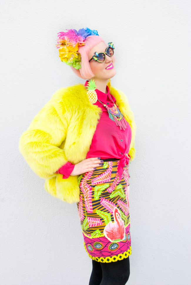 Diane Goldie, rainbow look, street style