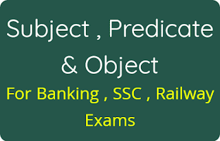Subject , Predicate & Object Hindi Notes PDF
