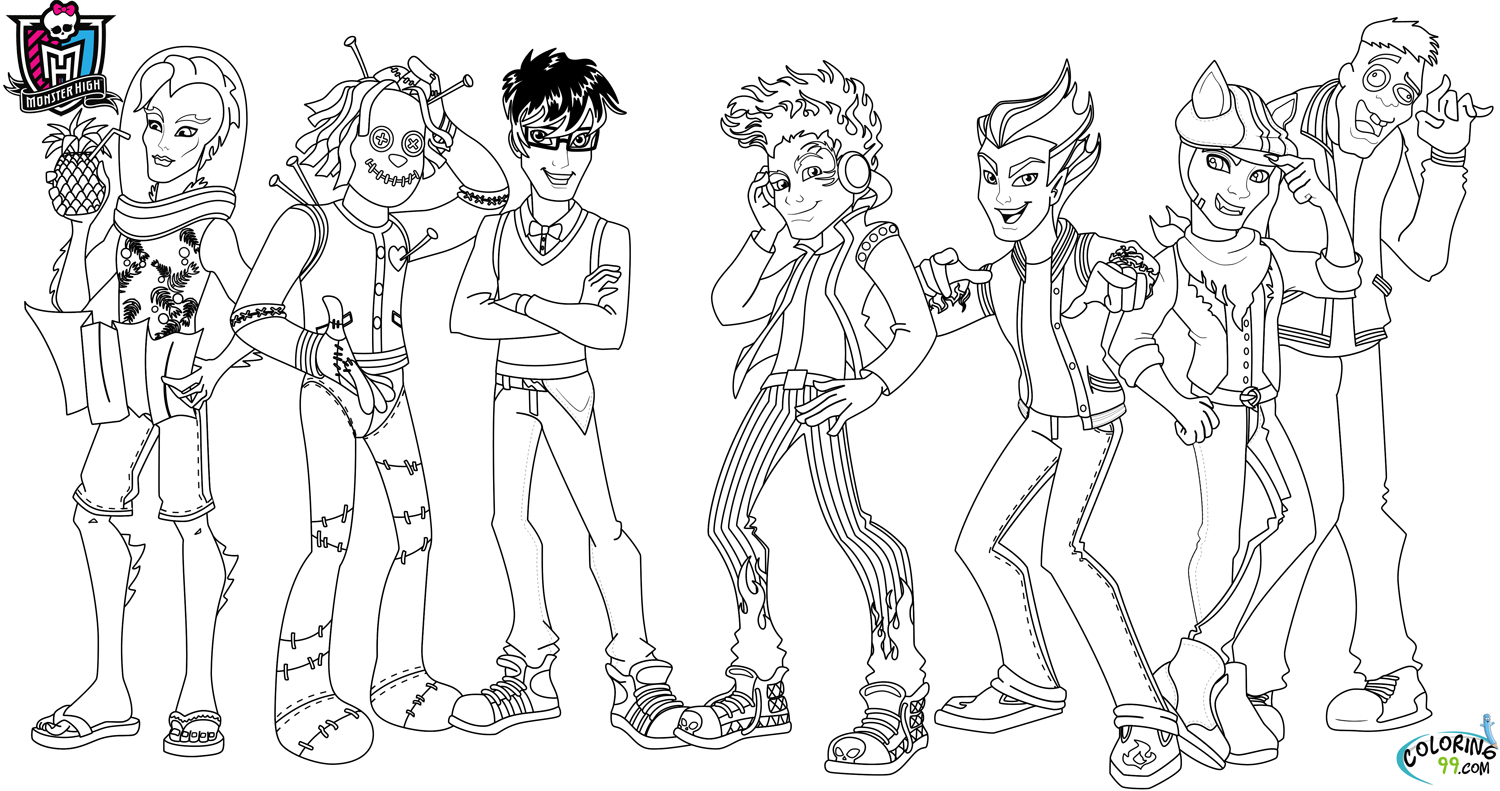 monster high boys coloring pages