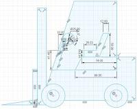 Sketch Forklift Steering Wheel