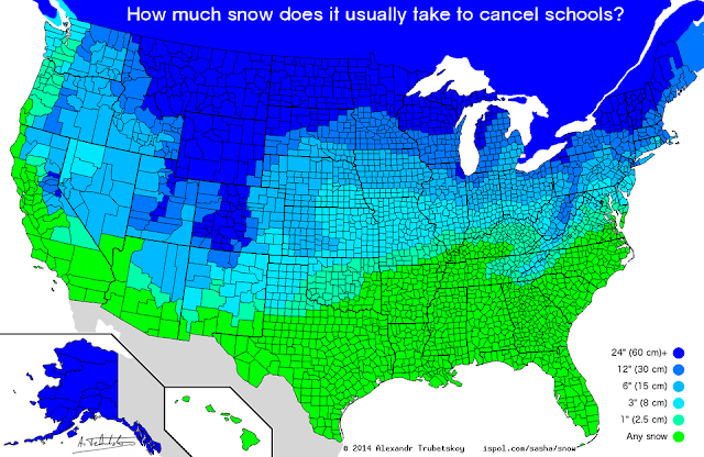 How Much Snow Does It Take To Cancel Schools?