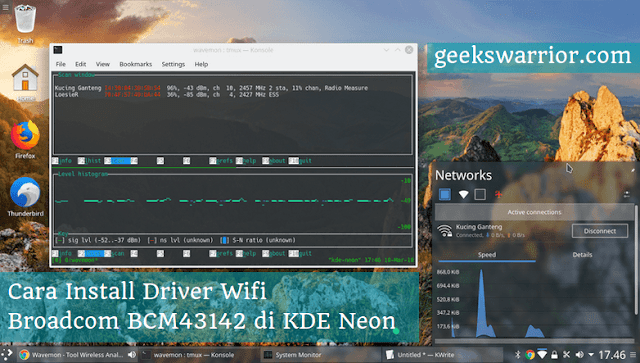 How to Install the BCM43142 WiFi Driver on KDE Neon