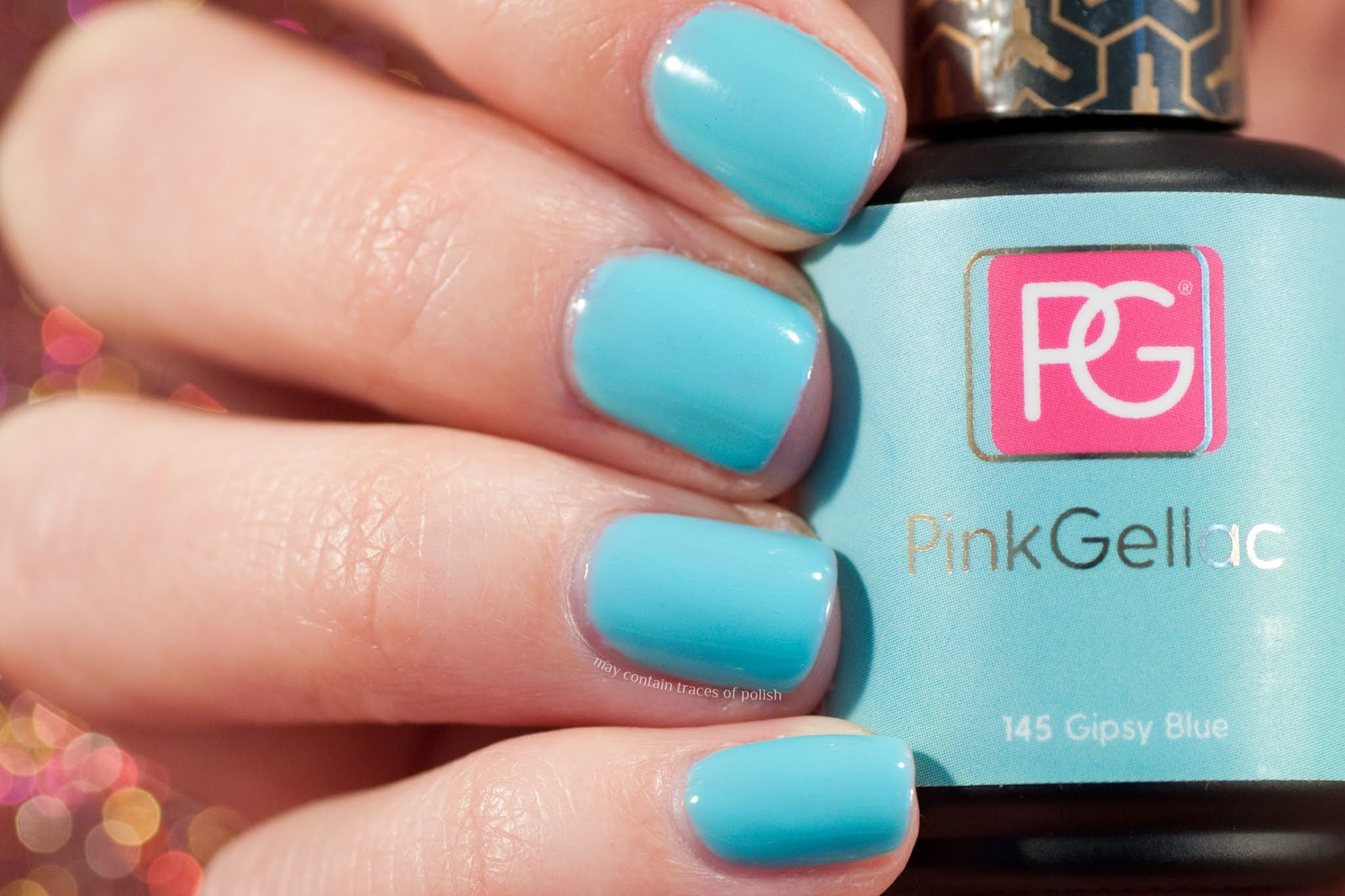 Pink Gellac swatches - 145 Gipsy Blue