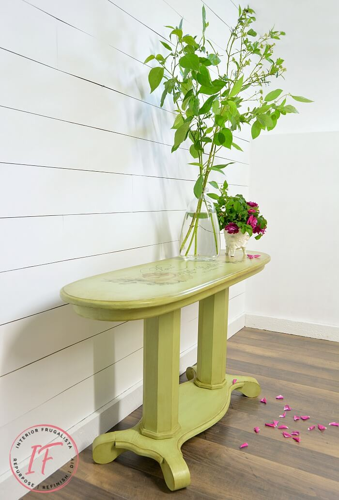 Green French Console Table