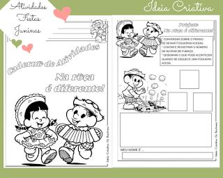 Atividades para imprimir Festa Junina Educação Infantil