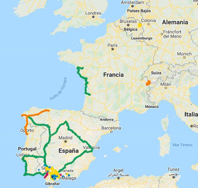 Viajes y rutas en bici y a pie. Cicloturismo y senderismo