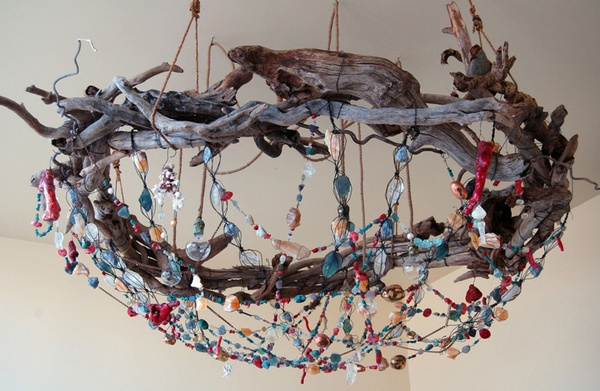 Beaded Nest Chandelier By Tracey Barnes