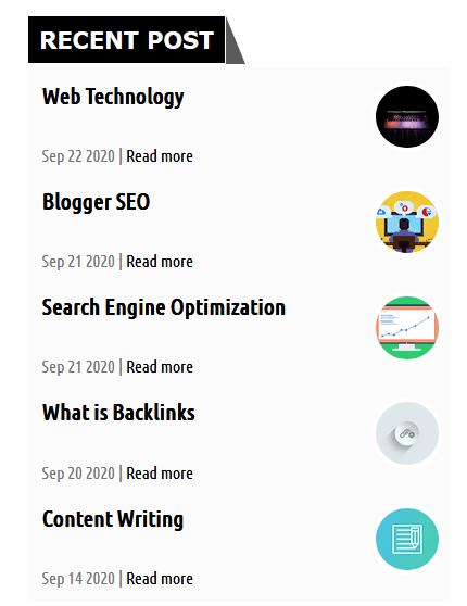 Recent-post-widget-demo