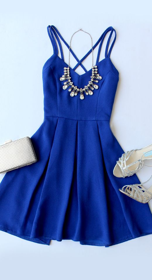 Navy blue Beautiful And Cute Outfit