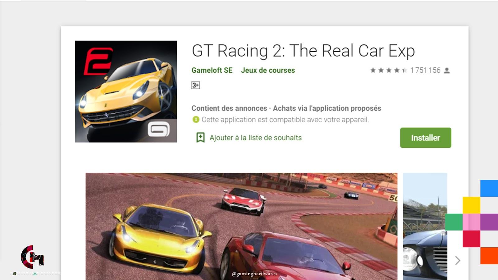 لعبة GT Racing 2 للأندرويد