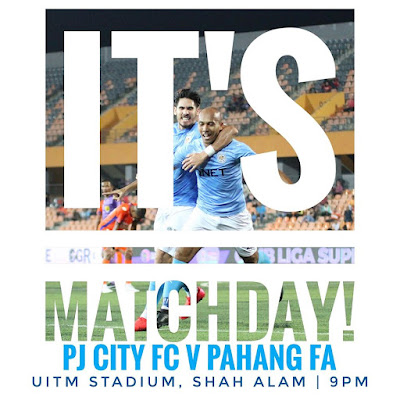Live Streaming PJ City vs Pahang Liga Super 6.3.2020