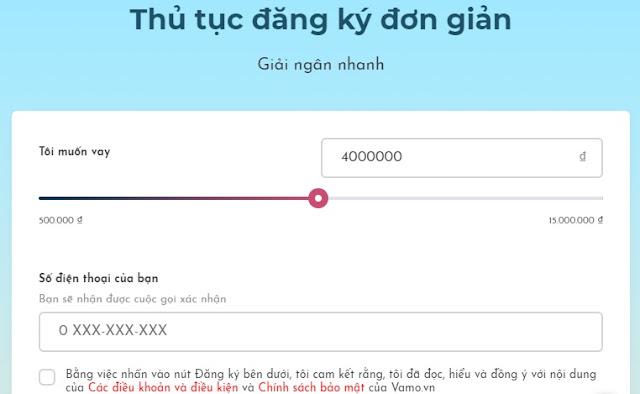 Vay tiền online vamo. Vay trực tuyến nhận tiền trong 15 phút - Ảnh 2.